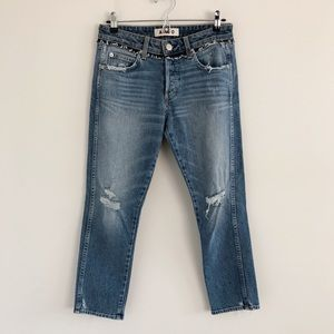 AMO Tomboy Crop Jeans in Soulmate w/ Destroy 25